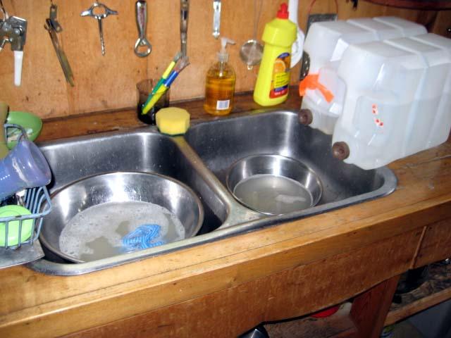 My sink, sans running water
