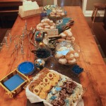 A bird's eye view of the sweet table