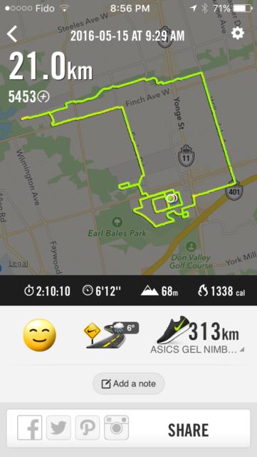 Proof that I actually ran 21 kilometres