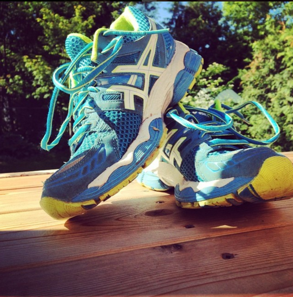 These shoes have logged a lot of miles--in fact, they are retired now.