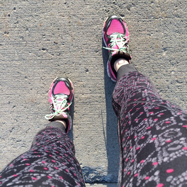 Sneakers on. Time to run.